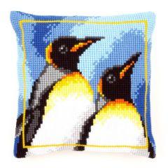 Cross Stitch Cushion Kit Emperor Penguins