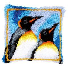 Latch Hook Cushion Kit Emperor Penguins