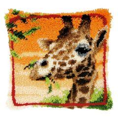 Latch Hook Cushion Kit Giraffe
