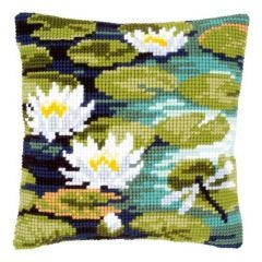Cross Stitch Cushion Kit Water Lilies