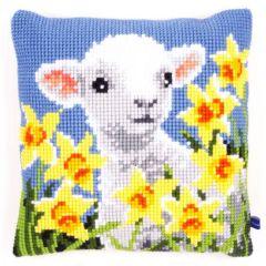 Cross Stitch Cushion Kit Lamb