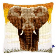 Cross Stitch Cushion Kit Elephant