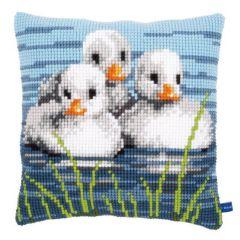 Cross Stitch Cushion Kit 3 Ducklings