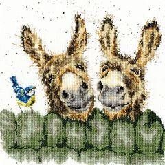 Wrendale Cross Stitch Kit Hew Haw Donkeys