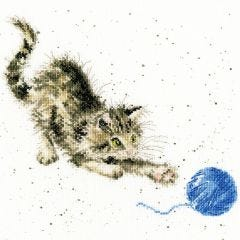 Wrendale Cross Stitch Kit Kitty and her Wool