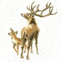 Wrendale Cross Stitch Kit Wild at Heart Deer