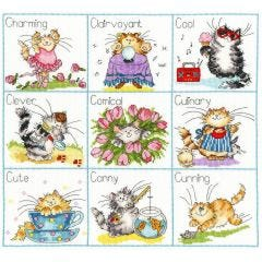 Counted Cross Stitch Kit It's a Cats Life