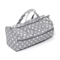 Grey Polka Dot Knitting Organiser Storage Bag