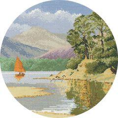 John Clayton Counted Cross Stitch Circle Kit Calm Waters