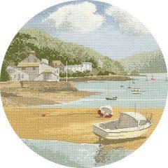 John Clayton Counted Cross Stitch Circle Kit Low Tide
