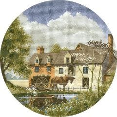 John Clayton Counted Cross Stitch Circle Kit Morning Delivery Horse and Cart
