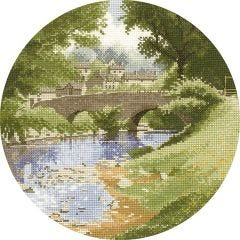 John Clayton Counted Cross Stitch Circle Kit Riverside