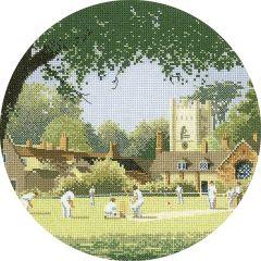 John Clayton Counted Cross Stitch Circle Kit Sunday Cricket