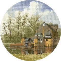 John Clayton Counted Cross Stitch Circle Kit Watermill