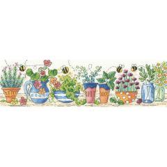 Karen Carter Counted Cross Stitch Kit Herb Garden