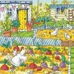 Karen Carter Counted Cross Stitch Kit Vegetable Patch