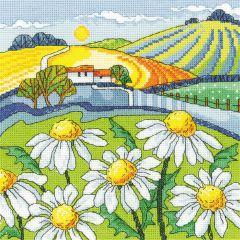 Karen Carter Counted Cross Stitch Kit Daisy Landscape