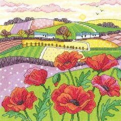Karen Carter Counted Cross Stitch Kit Poppy Landscape