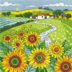 Karen Carter Counted Cross Stitch Kit Sunflower Landscape