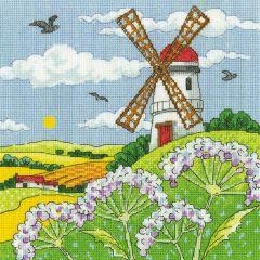 Karen Carter Counted Cross Stitch Kit Windmill Landscape