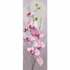 John Clayton Counted Cross Stitch Flower Panel Kit Orchid