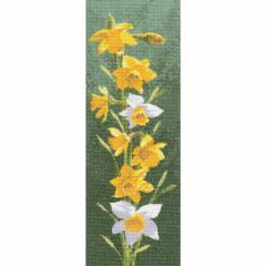 John Clayton Counted Cross Stitch Flower Panel Kit Daffodil