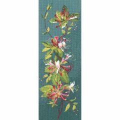 John Clayton Counted Cross Stitch Flower Panel Kit Honeysuckle
