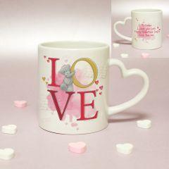 Personalised Me To You LOVE Heart Handled Mug