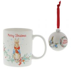 Peter Rabbit™  Christmas Mug and Bauble Set