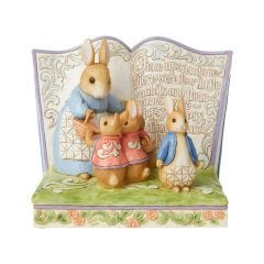 Once Upon a Time There Were Four Little Rabbits Peter Rabbit Storybook Figurine