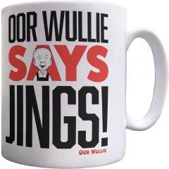 Oor Wullie Says Jings! Mug