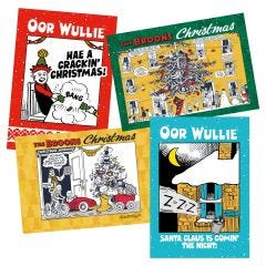 The Broons & Oor Wullie Christmas Cards