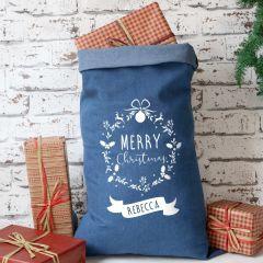Denim Christmas Sack