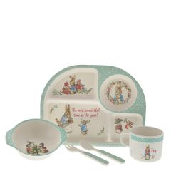 Peter Rabbit™ Bamboo Christmas Dinner Set
