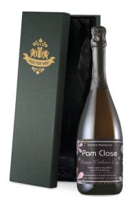 Personalised Mother's Day Flowers Prosecco
