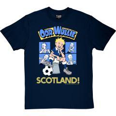Oor Wullie Retro Football T-Shirt
