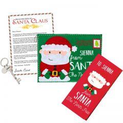 Santa Key, Chocolate Bar and Envelope Gift Set