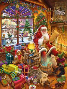 Santa's Christmas List 1000 Piece Jigsaw Puzzle