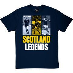 Scotland Legends T-Shirt Bremner, Law and Souness