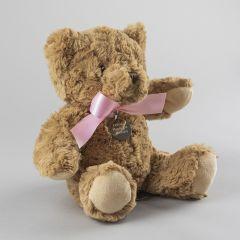New Baby Girl Personalised Bramble Bear Soft Plush Toy