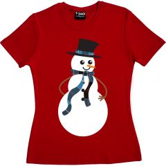 Snowman T-shirt Ladies