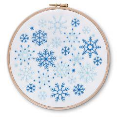 Snowflakes Christmas Embroidery Kit