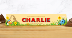 Personalised Easter Toblerone Milk Chocolate Bar