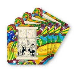 The Broons Make Every Family Happy Coasters - Set of 4