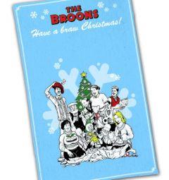 The Broons Christmas Tea Towel