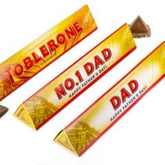 Personalised Happy Father's Day Milk Chocolate Toblerone 360g