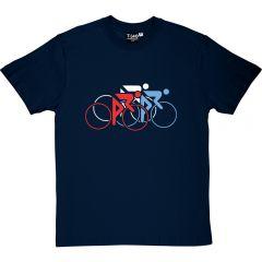 Tour De France Tricolour T-Shirt Navy