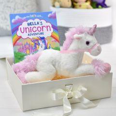 Unicorn Story Personalised Book and Plush Toy Giftset