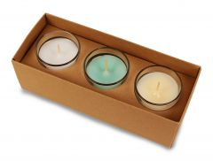 Votive Candle Gift Set of Fig & Wild Pear, Linen & White Pepper, Sea Salt