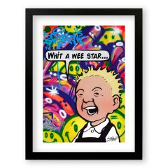 Oor Wullie Wee Star Sleek Prints and Canvases